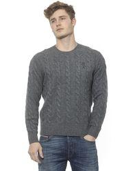 Billionaire Italian Couture Cashmere Crewneck Sweater - Gray