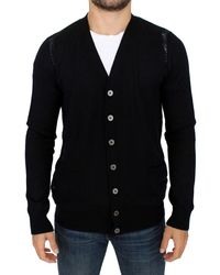 Karl Lagerfeld Wool Cardigan Black Sig10576