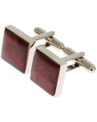 Dolce & Gabbana Brass Square Stone Cufflinks Silver Sig31507 - Metallic