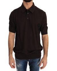 Dolce & Gabbana Ss Polo Shirt Brown Tsh2315 - Black