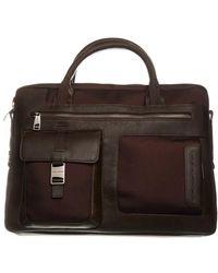 Piquadro Leather Marrone Briefcase - Brown