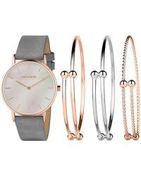 Pierre Cardin Quartz Rose Gold Leather Strap Watch - Multicolor
