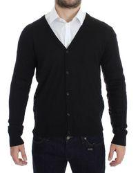John Galliano Wool Button Down Cardigan Black Sig17768