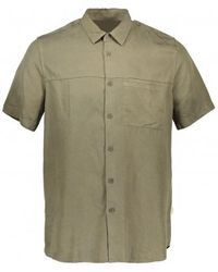 Folk Burner Garment-dyed Lyocell Shirt - Green
