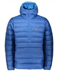 Patagonia Down Sweater Hoody Pullover - Blue