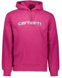 Carhartt WIP Hooded Carhartt Sweat - Pink