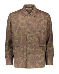 Universal Works Travail Shirt Jacket - Green