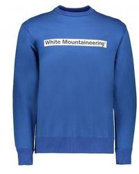 White Mountaineering Drop Shoulder Logo Sweatshirt - Blue
