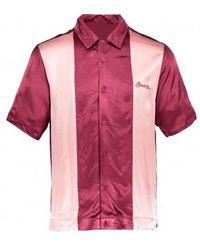 Stussy 2 Tone Bowling Shirt - Pink