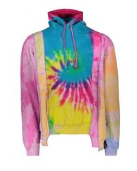 Needles Men's 5 Cuts Tie Dye Hoodie, Size Small | Cotton/polyester - Multicolour