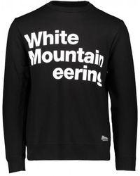 White Mountaineering Logo Jersey Sweatshirt - Black