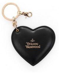 Vivienne Westwood Heart And Hook Keyring - Black