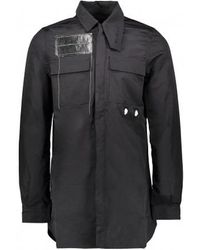 Rick Owens Drkshdw Filed Shirt - Black