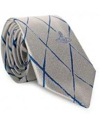 Vivienne Westwood Cross Check Pattern Tie - Multicolour