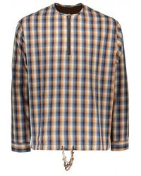 Monitaly Ls Zip Neck Pullover - Multicolour