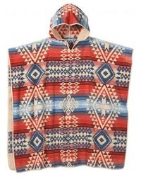 Pendleton Adult Hooded Towel (canyonlands) Bath Towels - Red