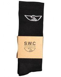 Stepney Workers Club Handshake Socks - Black
