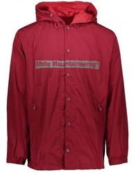 White Mountaineering Logo Hooded Coach Jacket - Red