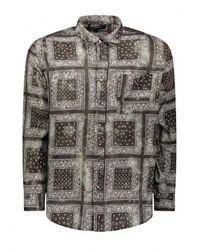 FRIZMWORKS Tie Dyed Oversized Shirt - Black