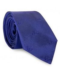 Vivienne Westwood Orb Logo Tie - Blue