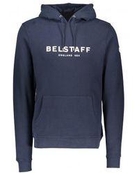 Belstaff Printed '1924' Hooded Sweatshirt Navy - Blue
