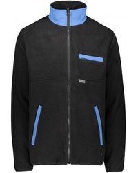 Stussy Nylon Mock Neck Fleece Jacket - Black