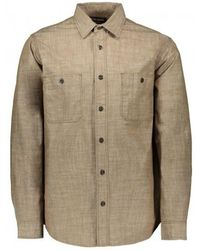 Filson Warden Chambray Work Shirt - Brown