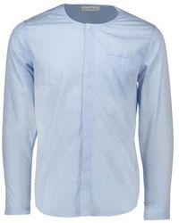 Folk - Collarless Shirt - Lyst