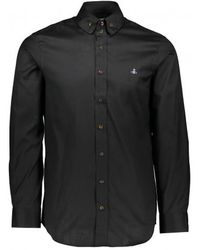 Vivienne Westwood 2 Button Collar Shirt - Black