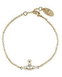 Vivienne Westwood Iris Bas Relief Bracelet - Metallic