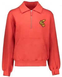 Vivienne Westwood Anglomania 1/4 Zip Sweater - Red