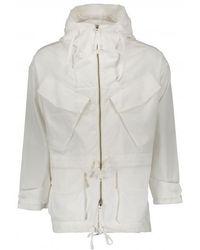 Monitaly Expedition Half Coat - White