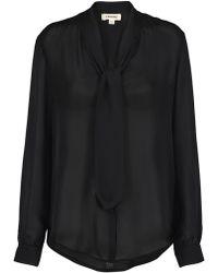 L'Agence - Gisele Blouse In Black - Lyst