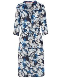 Pyrus - Frankie Floral Print Dress In Morning Navy - Lyst