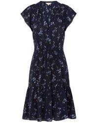 Rebecca Taylor - Sleeveless Francine Dress In Navy - Lyst