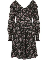 Rebecca Taylor - Tilda Ruffle Dress In Black Combo - Lyst