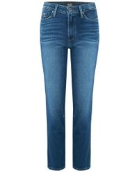 PAIGE - Hoxton Straight Ankle Jean In Braelynn - Lyst