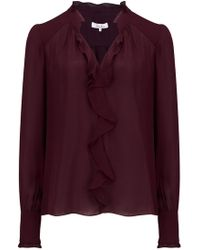 Parker - Tilly Blouse In Cordovan - Lyst