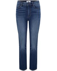 PAIGE - Hoxton Straight Crop Jean In Dixon - Lyst