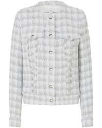 IRO - Quilombe Tweed Jacket In White And Silver - Lyst
