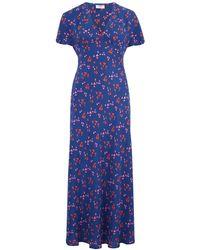 Mercy Delta Stewart Heart Dress In Wild Blue & Pink