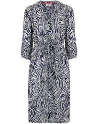 Pyrus - Frankie Dress In Navy Zebra - Lyst