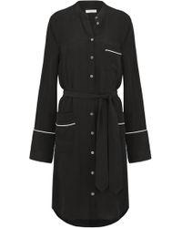 Equipment - Britten Dress In True Black - Lyst