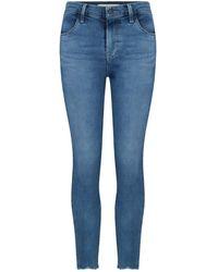 J Brand Alana High Rise Cropped Jean - Blue