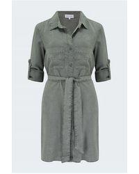 Bella Dahl Shirt Tail Dress - Grey