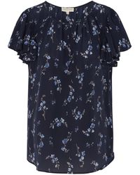 Rebecca Taylor - Sleeveless Francine Top In Navy - Lyst