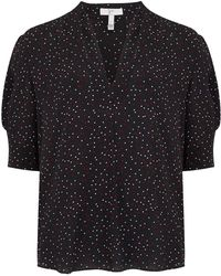 Joie - Ance Blouse In Caviar - Lyst