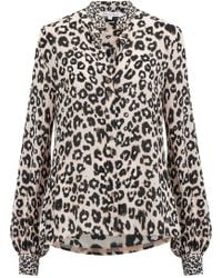 Lily & Lionel - Maddox Leopard Print Shirt In Natural - Lyst