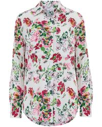Equipment - Signature Shirt In Floral Symphony Bright White - Lyst