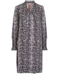 Rebecca Taylor - Snake Print Scarf Tie Dress - Lyst